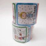 シール  スヌーピー 日本未販売 クリスマス シール スクエア 5種 100枚セット  未使用