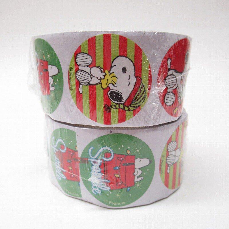スヌーピー 日本未販売 クリスマス シール ラウンド 6種 100枚セット  未使用【画像2】