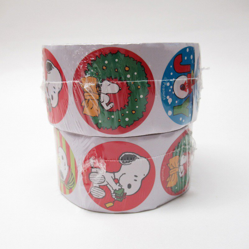 スヌーピー 日本未販売 クリスマス シール ラウンド 6種 100枚セット  未使用【画像3】