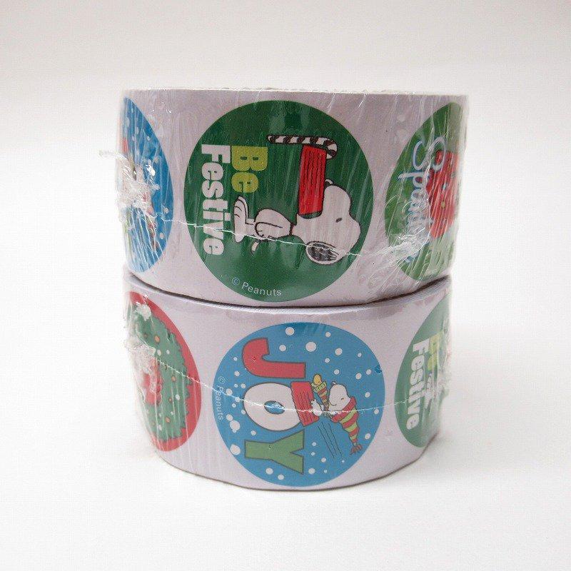 スヌーピー 日本未販売 クリスマス シール ラウンド 6種 100枚セット  未使用【画像4】