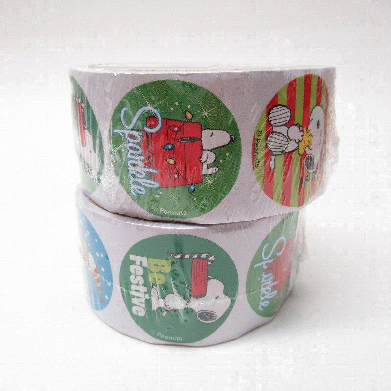 スヌーピー 日本未販売 クリスマス シール ラウンド 6種 100枚セット  未使用【画像5】