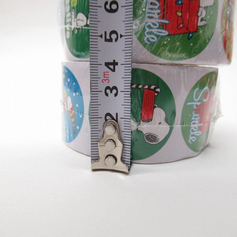 スヌーピー 日本未販売 クリスマス シール ラウンド 6種 100枚セット  未使用【画像6】