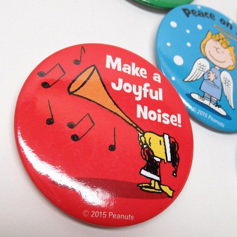 スヌーピー 日本未販売 クリスマス 缶バッチ 未使用【画像6】