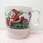 オーナメント&デコレーション  昭和レトロ マグ クリスマス サンタクロース
