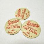 ミルクキャップ  ミルクキャップ ヴィンテージ Dewan Light Cream 蓋