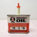 オート&ツール&ガレージ系雑貨  ヴィンテージ ティン缶 Household Oil