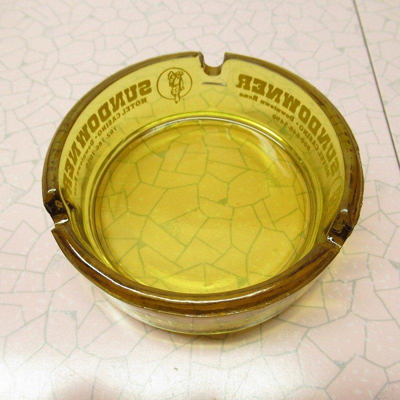 ヴィンテージ 灰皿 Sun Downer アンバーカラー アッシュトレイ【画像2】