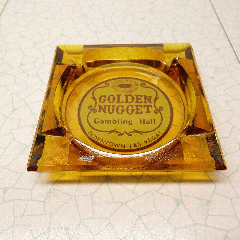 ヴィンテージ 灰皿 Golden Nugget アンバーカラー アッシュトレイ