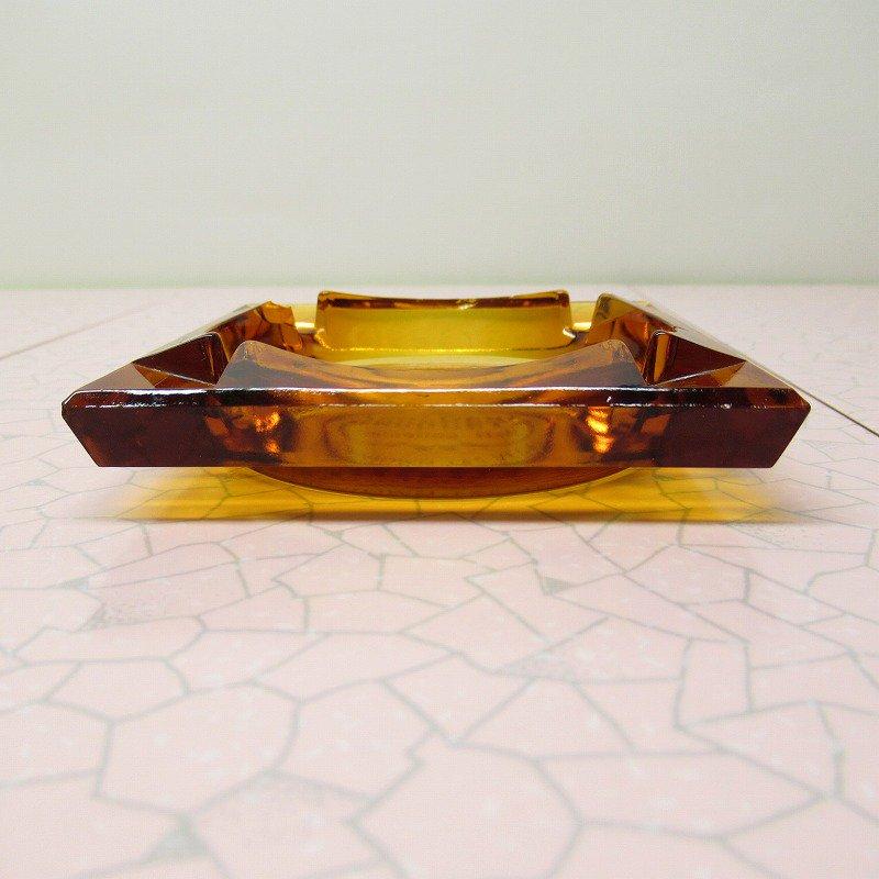 ヴィンテージ 灰皿 Golden Nugget アンバーカラー アッシュトレイ【画像2】
