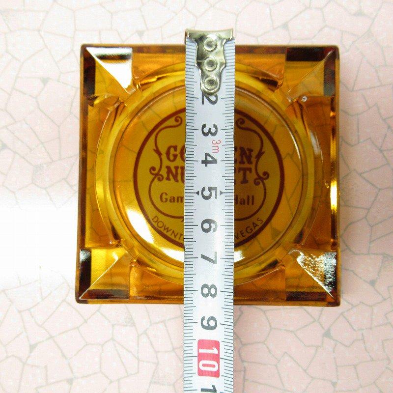 ヴィンテージ 灰皿 Golden Nugget アンバーカラー アッシュトレイ【画像14】