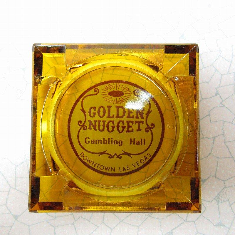 ヴィンテージ 灰皿 Golden Nugget アンバーカラー アッシュトレイ【画像3】
