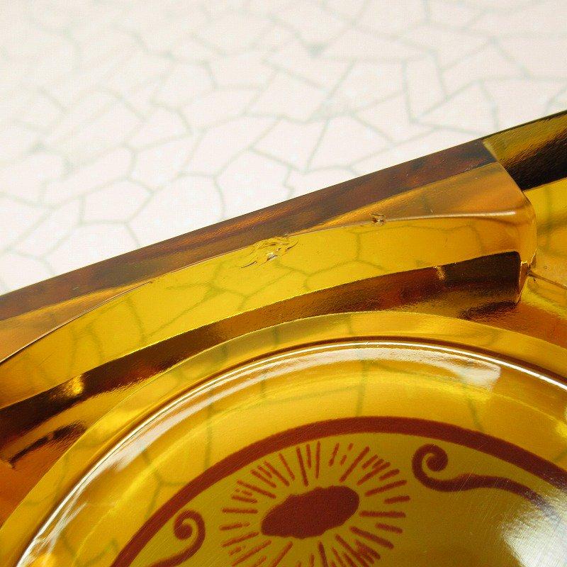 ヴィンテージ 灰皿 Golden Nugget アンバーカラー アッシュトレイ【画像4】