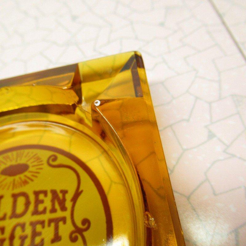 ヴィンテージ 灰皿 Golden Nugget アンバーカラー アッシュトレイ【画像5】