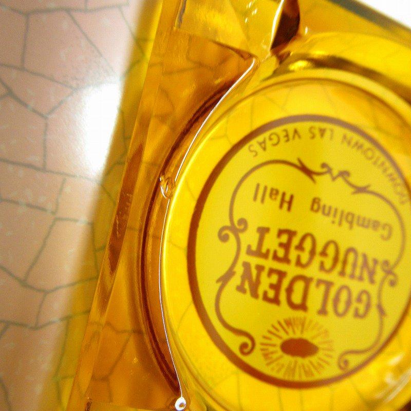 ヴィンテージ 灰皿 Golden Nugget アンバーカラー アッシュトレイ【画像7】