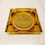 リビング  ヴィンテージ 灰皿 Golden Nugget アンバーカラー アッシュトレイ