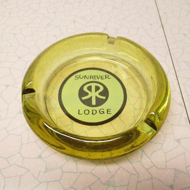 ヴィンテージ 灰皿 Sunriver Lodge アンバーカラー アッシュトレイ