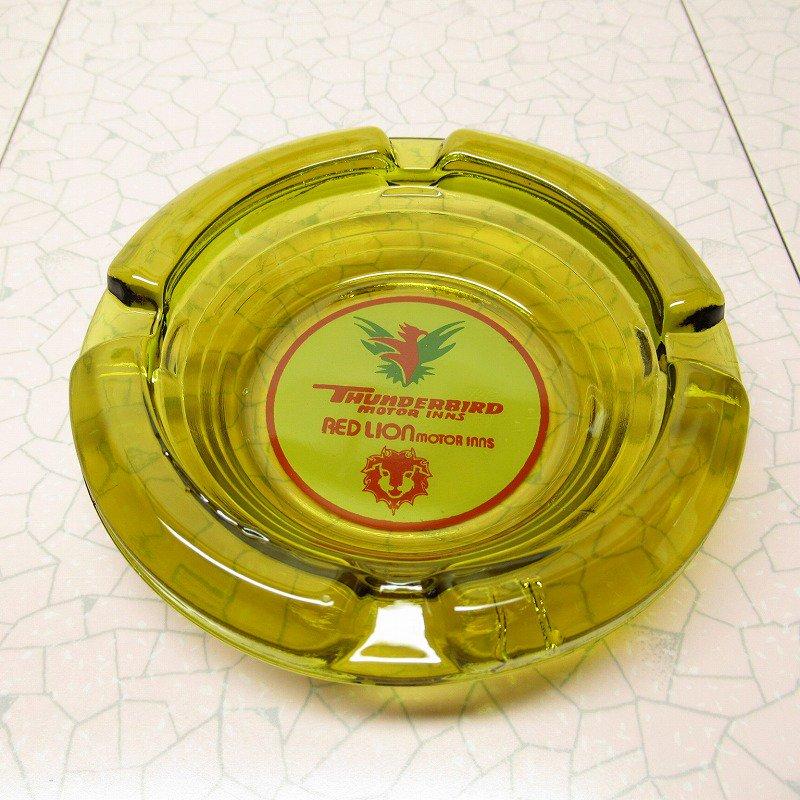 ヴィンテージ 灰皿 Thunderbird by Red Lion アンバーカラー アッシュトレイ