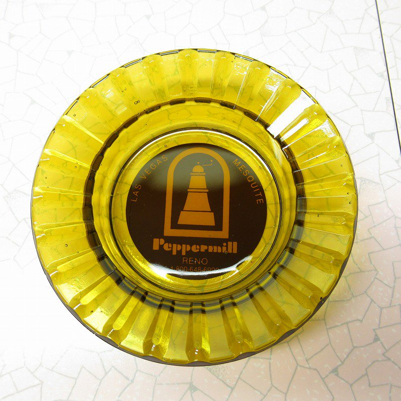 ヴィンテージ 灰皿 Peppermill アンバーカラー アッシュトレイ【画像2】