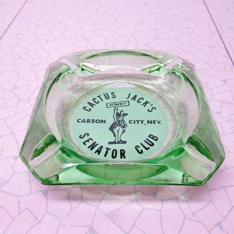 ヴィンテージ 灰皿 Cactus Jack's グリーンカラー アッシュトレイ