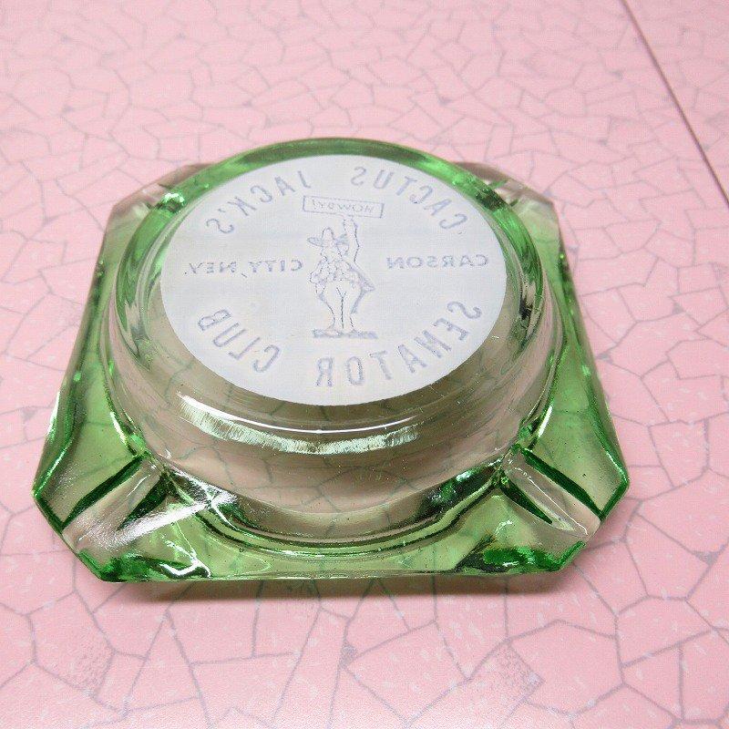 ヴィンテージ 灰皿 Cactus Jack's グリーンカラー アッシュトレイ【画像6】
