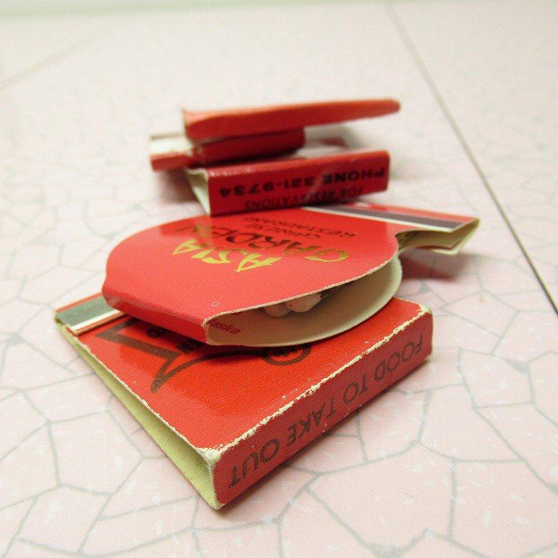 ヴィンテージマッチブック 5個セット 赤 B【画像11】