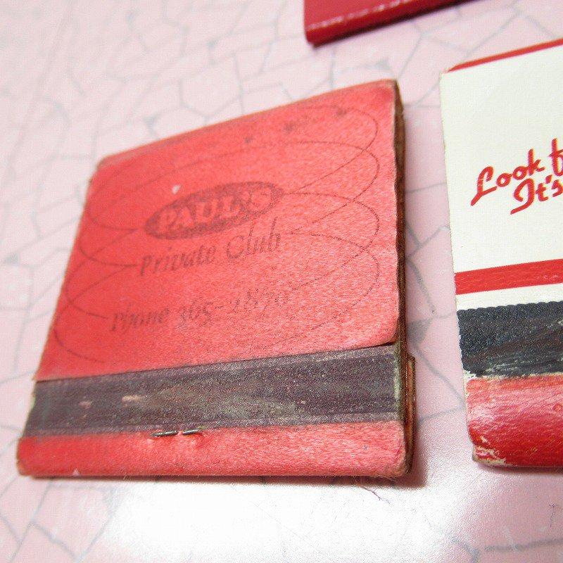 ヴィンテージマッチブック 5個セット 赤 B【画像8】