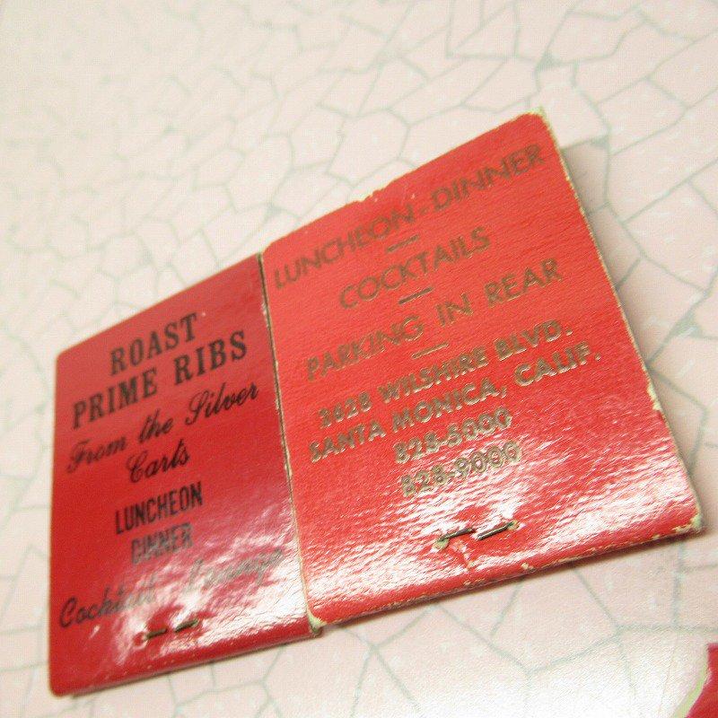ヴィンテージマッチブック 5個セット 赤 B【画像9】