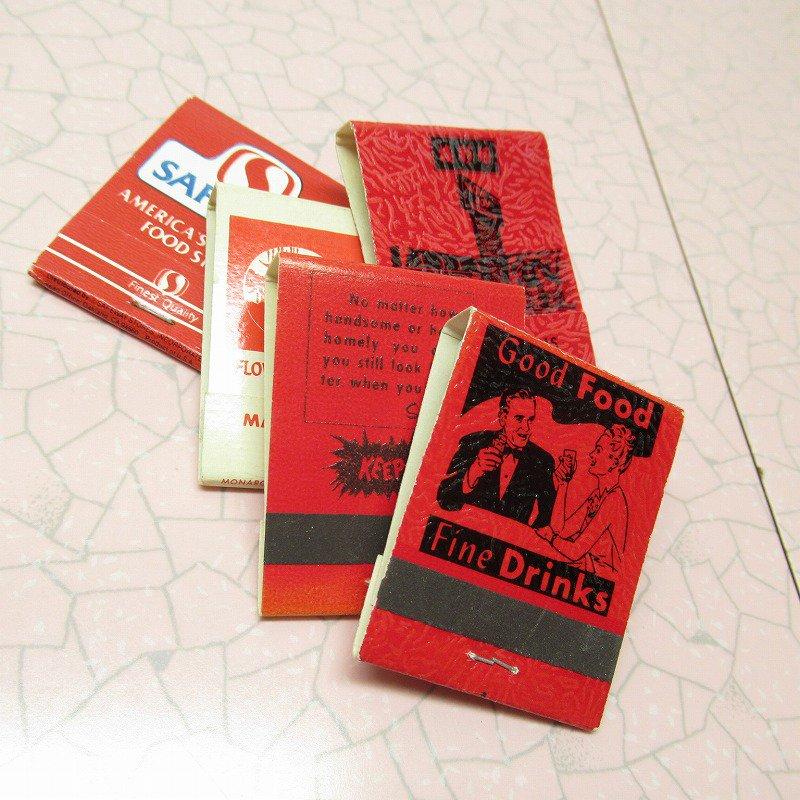 ヴィンテージマッチブック 5個セット 赤 C