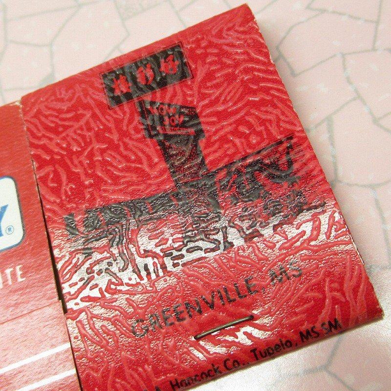 ヴィンテージマッチブック 5個セット 赤 C【画像5】