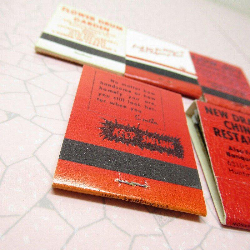 ヴィンテージマッチブック 5個セット 赤 C【画像10】