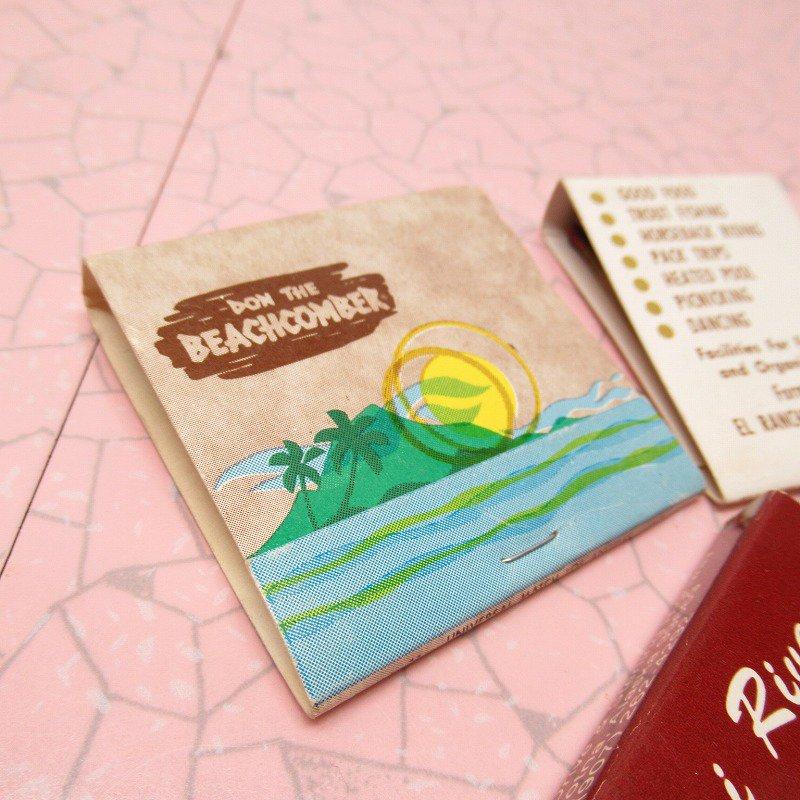 ヴィンテージマッチブック 5個セット 茶 A【画像6】