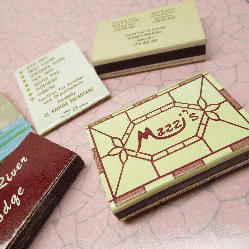 ヴィンテージマッチブック 5個セット 茶 A【画像7】