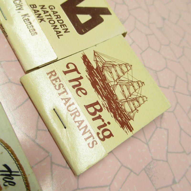 ヴィンテージマッチブック 5個セット 茶 C【画像4】