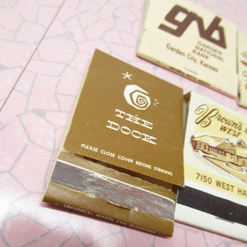 ヴィンテージマッチブック 5個セット 茶 C【画像5】