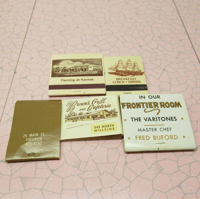ヴィンテージマッチブック 5個セット 茶 C【画像6】