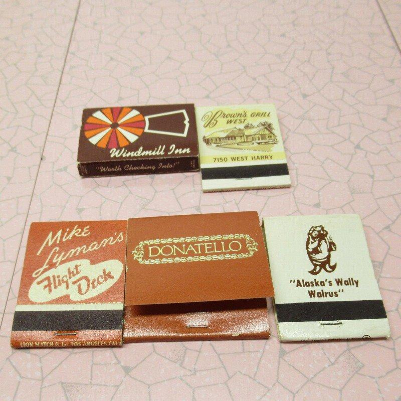 ヴィンテージマッチブック 5個セット 茶 D【画像2】