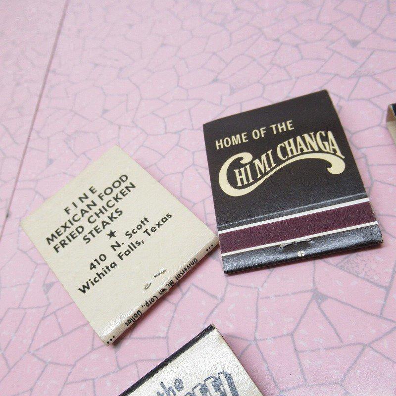 ヴィンテージマッチブック 5個セット 黒 A【画像11】