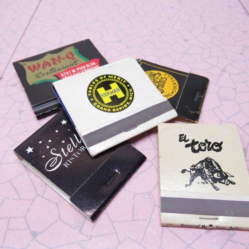 ヴィンテージマッチブック 5個セット 黒 B
