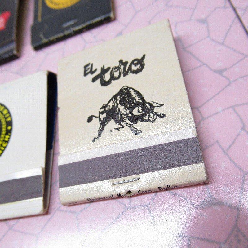 ヴィンテージマッチブック 5個セット 黒 B【画像5】