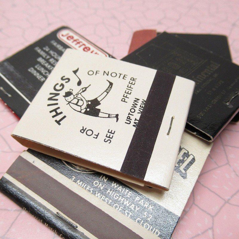 ヴィンテージマッチブック 5個セット 黒 C
