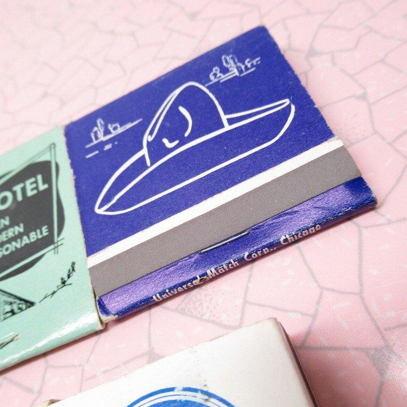 ヴィンテージマッチブック 5個セット 青 A【画像5】