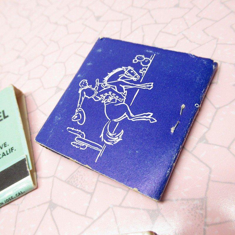 ヴィンテージマッチブック 5個セット 青 A【画像8】