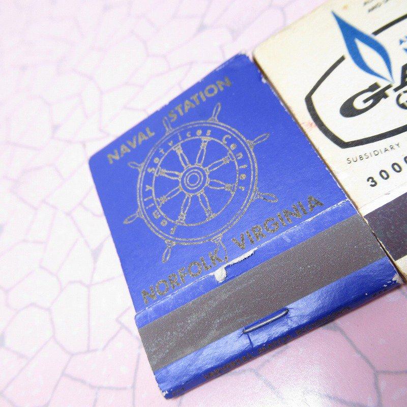 ヴィンテージマッチブック 5個セット 青 B【画像3】