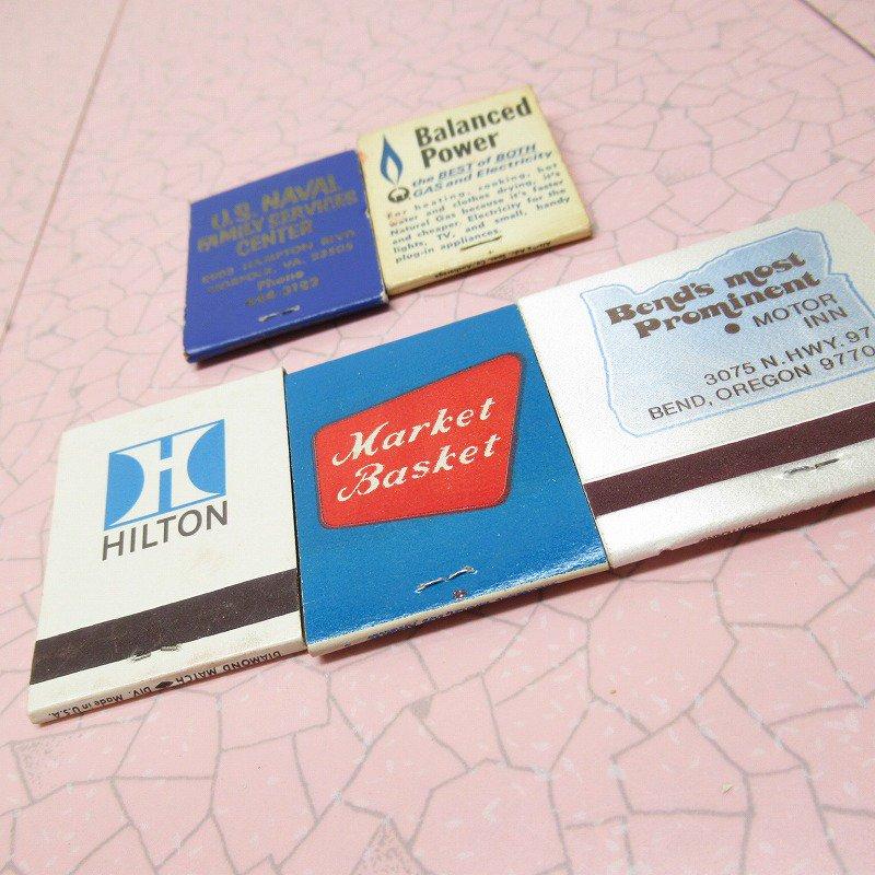ヴィンテージマッチブック 5個セット 青 B【画像8】