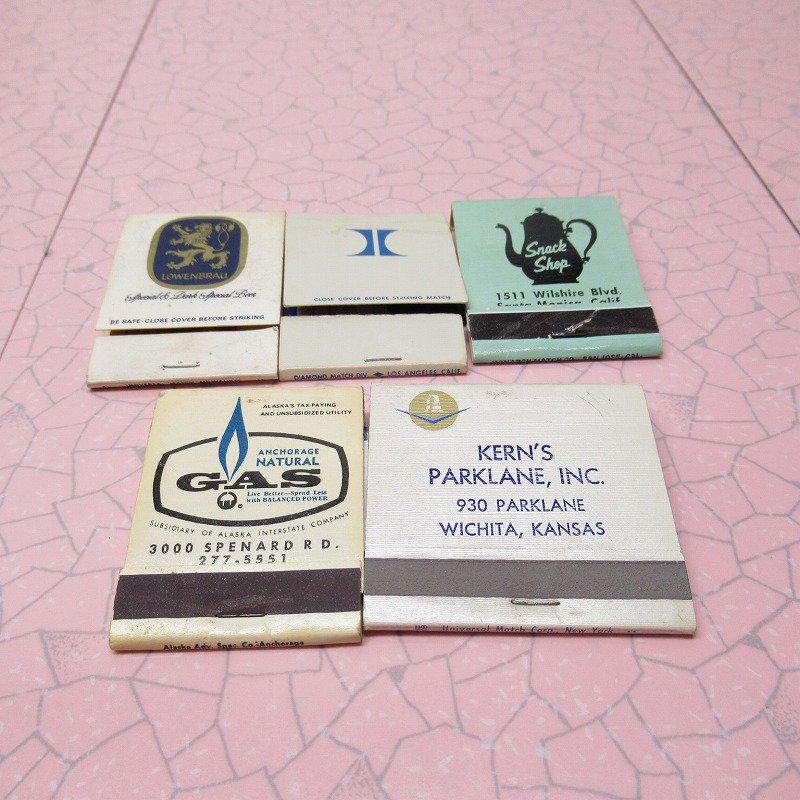 ヴィンテージマッチブック 5個セット 青 C【画像2】