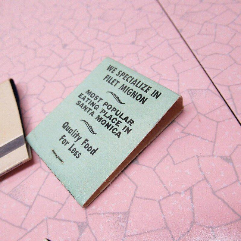 ヴィンテージマッチブック 5個セット 青 C【画像10】