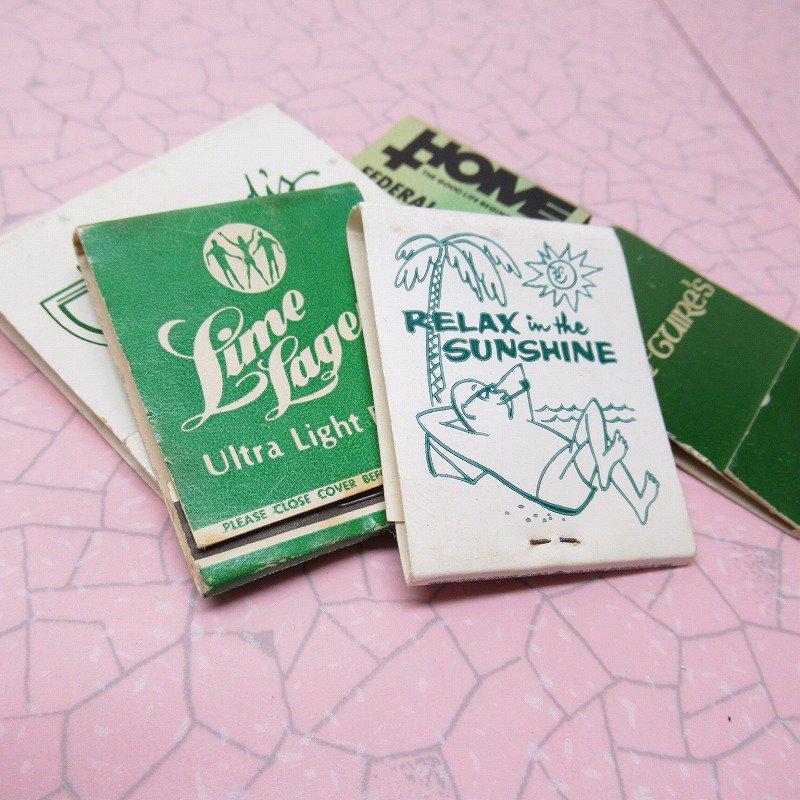 ヴィンテージマッチブック 5個セット 緑 B