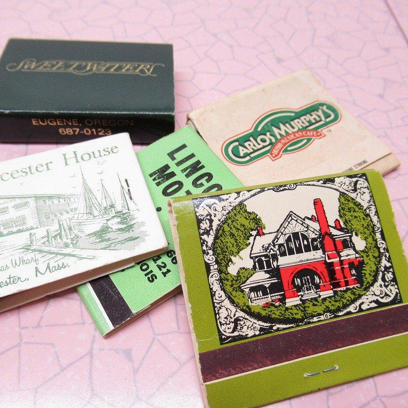 ヴィンテージマッチブック 5個セット 緑 C