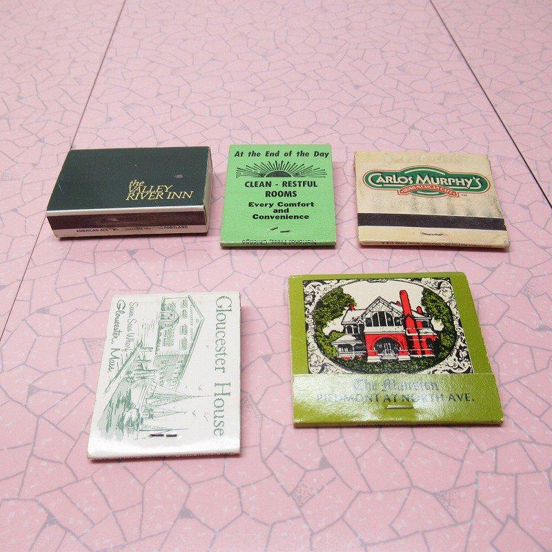 ヴィンテージマッチブック 5個セット 緑 C【画像8】