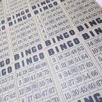 チケット、スコアパッドなどの紙物・紙モノ雑貨  紙モノ雑貨 ビンゴ BINGOシート 茶色 4枚セット